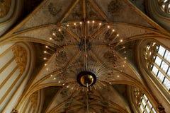 Nowożytny oświetlenie w klasycznej kaplicie zdjęcia royalty free