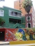Nowożytny obraz na ścianie w Barranco okręgu Lima Obraz Royalty Free