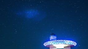Nowożytny obserwatorium obserwuje gwiazdy, upływ zdjęcie wideo
