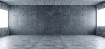 Nowożytny Ogromny Betonowy materiał Pusty Hall Z Wiele kolumnami I b ilustracji