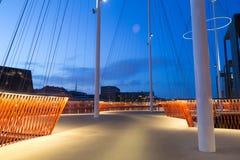 Nowożytny okręgu most w Kopenhaga Fotografia Stock