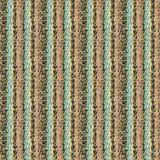 Nowożytny ozdobny pasiasty wektorowy bezszwowy wzór Abstrakcjonistyczni wielo- barwioni muśnięć uderzenia i złoci kędziory ilustracja wektor