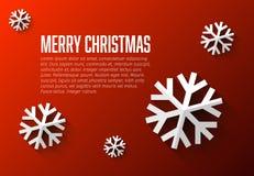 Nowożytny płaski projekt kartki bożonarodzeniowa szablon Zdjęcie Royalty Free