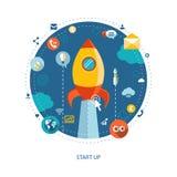 Nowożytny płaski projekta biznesu infographics Zdjęcie Royalty Free