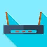 Nowożytny płaski projekta pojęcia ikony Fi router Obraz Royalty Free