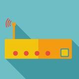 Nowożytny płaski projekta pojęcia ikony Fi router Zdjęcie Royalty Free
