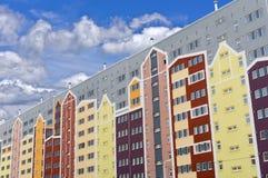 Nowożytny panelu budynek mieszkaniowy fotografia royalty free