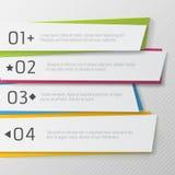 Nowożytny papier liczący sztandar, koloru projekt Obraz Stock