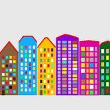 Nowożytny pejzażu miejskiego tło ilustracji