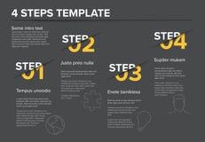 Nowożytny postępu cztery kroków szablon Zdjęcie Royalty Free