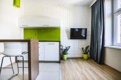 Nowożytny pracowniany mieszkanie Obrazy Royalty Free