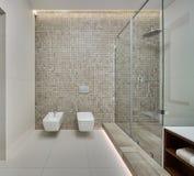 Nowożytny prysznic pokój obrazy royalty free