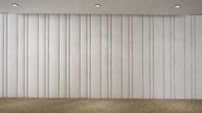 Nowożytny Pusty pokój, 3d odpłaca się wewnętrznego projekt, egzamin próbny w górę illustrati Obraz Stock
