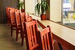 Nowożytny restauraci, baru lub kawiarni wnętrze, Zdjęcie Royalty Free