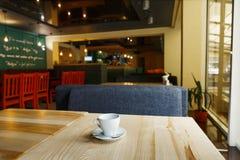 Nowożytny restauraci, baru lub kawiarni wnętrze, Obraz Stock