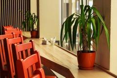 Nowożytny restauraci, baru lub kawiarni wnętrze, Zdjęcia Royalty Free