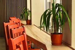 Nowożytny restauraci, baru lub kawiarni wnętrze, Zdjęcie Stock