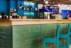 Nowożytny restauraci, baru lub kawiarni wnętrze, Fotografia Royalty Free