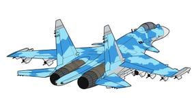 Nowożytny Rosyjski myśliwa odrzutowego samolot Fotografia Royalty Free