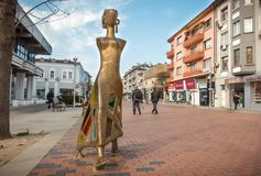 Nowożytny rzeźby ` spaceru `, Varna, Bułgaria Obrazy Royalty Free