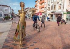 Nowożytny rzeźby ` spaceru `, Varna, Bułgaria Zdjęcia Stock
