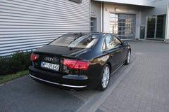 Nowożytny samochód: Audi A8 Obraz Royalty Free