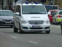 Nowożytny samochód policyjny Kopenhaga Obrazy Royalty Free