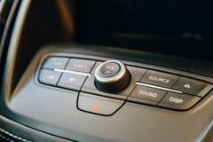 Nowożytny Samochodowy Wewnętrzny deska rozdzielcza widok Obraz Royalty Free