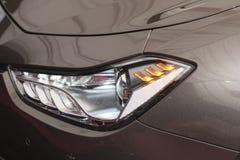 Nowożytny sedanu przodu headlamp Fotografia Royalty Free