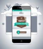Nowożytny smartphone Zdjęcia Royalty Free