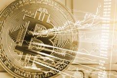 Nowożytny sposób wymiana Bitcoin jest dogodnym zapłatą w globalnym Obrazy Stock