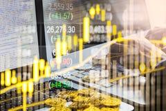 Nowożytny sposób wymiana Bitcoin jest dogodnym zapłatą w globalnym Obraz Royalty Free