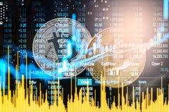 Nowożytny sposób wymiana Bitcoin jest dogodnym zapłatą w globalnym Obraz Stock