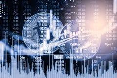 Nowożytny sposób wymiana Bitcoin jest dogodnym zapłatą w globalnym Zdjęcie Stock