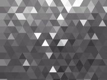 Nowożytny srebny popielaty kruszcowy wieloboka tło z wielostrzałowym trójboka projektem ilustracja wektor