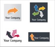 nowożytny strzałkowaty logo Obrazy Stock