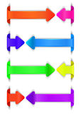 Nowożytny strzałkowaty projekta szablon dla infographics Zdjęcia Stock