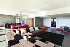 Nowożytny styl, żywy pokój Fotografia Royalty Free