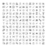 Nowożytny styl freelance kontur ikony inkasowe ilustracja wektor