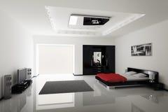 nowożytny sypialni wnętrze Obrazy Royalty Free