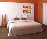nowożytny sypialni wnętrze ilustracji