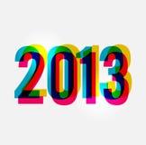 Nowożytny Szczęśliwy nowy rok 2013 ilustracja wektor