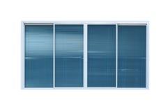 Nowożytny szklany okno odizolowywający na białym tle Obraz Stock