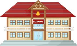 Nowożytny szkolny karton royalty ilustracja