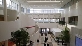Nowożytny szpitala lobby fotografia royalty free