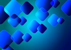 Nowożytny sztandar z błękitem obciosuje na błękitnym tle royalty ilustracja