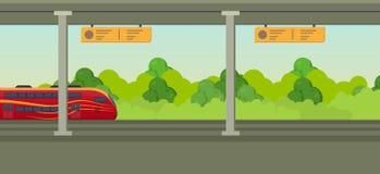 Nowożytny szybki pociąg na staci kolejowej Kolejowy typ transport, lokomotywa Fotografia Royalty Free