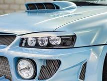 Nowożytny szybkiego samochodu zakończenie Zdjęcia Stock