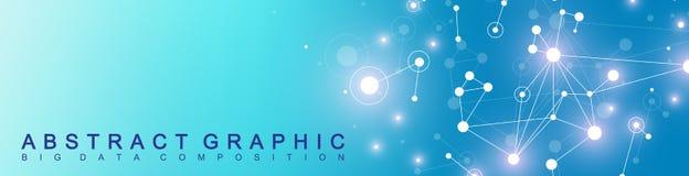 Nowożytny technologia sztandar Geometryczna abstrakcjonistyczna prezentacja tła komunikacyjny miejsca wektor twój Wykłada plexus  Obrazy Stock