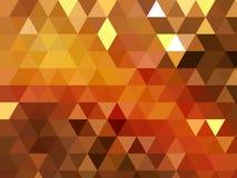 Nowożytny trójbok mozaiki złota błyszczący geometryczny niski poli- tło ilustracji